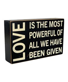 Take a look at this 'Love' Sign by VIP International on #zulily today!