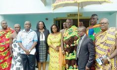 • Osagyefo Amoatia Ofori Panin with Dr Poku-Adusei (2nd right), President of the GMA, and some elders and members of the association after the function.