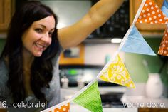 DIY Penant Banner - good to know for the save the date