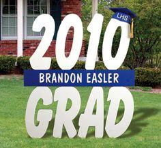 Graduation Wood pattern yard sign