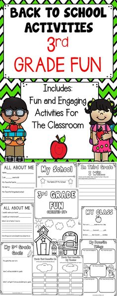 Third Grade Fun - This engaging back to school activity book includes lessons to use with your students during this busy time of year!