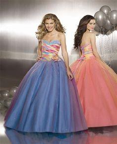 Sweet 16 dress :) rainbow-everything Prom Dresses Under 100, Senior Prom Dresses, Cheap Party Dresses, Long Prom Gowns, Prom Dresses Online, Evening Dresses, Bridesmaid Dresses, Wedding Dresses, Bridesmaids