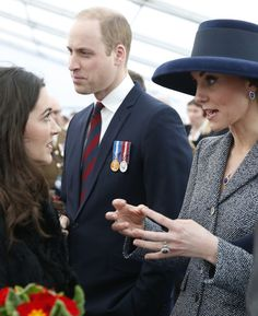 Prince William, Duke of Cambridge and Catherine, Duchess of Cambridge meet veterans and serving members of the British armed forces at a reception following the unveiling of the new memorial to members of the armed services who served and died in the wars in Iraq and Afghanistan at Victoria Embankment Gardens on March 9, 2017 in London.
