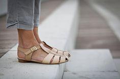 10 % vente, Annie, nue en cuir sandales, chaussures plates de l'été, bretelles sandales