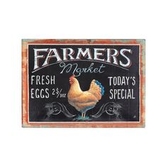 Bring some farmers market allure home with you with this charming tin wall décor.