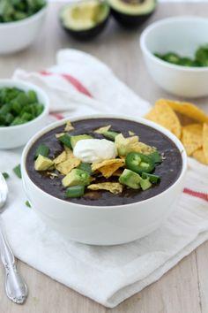 Slow Cooker Black Bean Soup | thektichenpaper.com