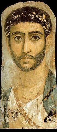 roman portrait painting   Roman Era Funerary Portrait Painting
