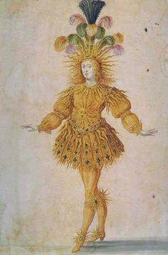 Louis XIV dressed as a sun, Le Ballet de la Nuit: Henri de Gissey, 1653