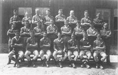 The New Zealand prisoner of war team at Stalag winners of their 1944 competition. Rugby Sport, Kiwiana, Prisoners Of War, Lest We Forget, Camps, Family History, Genealogy, Ww2, New Zealand