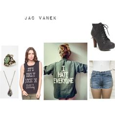 Jac Vanek, created by fashionstachristy on Polyvore