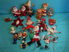 Vintage Christmas Tree Ornaments 25 Assorted by SETXTreasures