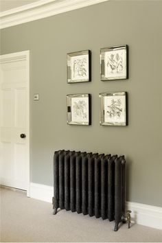 Farrow & Ball Inspiration and cast iron radiators.  Talk to Simply Radiators for more info.