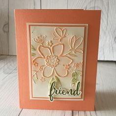 Lovely Florals Embossing Folder from the Share What You Love Suite