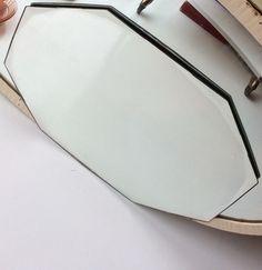 fasettihiottu peili . 26.5x37.5cm . #kooPernu