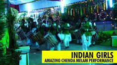 Amazing CHENDA MELAM Performance by Indian Girls | Kerala Peoples perfor...