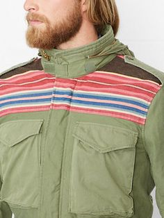 Patterned-Yoke Field Jacket - Jackets & Coats Apparel - Ralph Lauren France