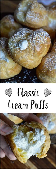 This Classic Cream Puff Recipe is a simple and delicious dessert! Pastry puffs filled with fresh whipped cream. Find more cream puff recipes in the Simply Sweet Dream Puffs cookbook.