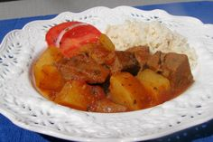 Sudanese style stew like we had at Mahn Kahn's, but she added beef bouillon