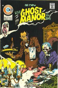 Cover for Ghost Manor (Charlton, 1971 series) Creepy Comics, Sci Fi Comics, Old Comics, Horror Comics, Book Cover Art, Comic Book Covers, Comic Books, Charlton Comics, Horror Themes