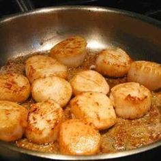 Scallops - food from my childhood holidays to Scotland. Our parents would go…
