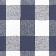 68370, Key Largo Check, Navy, Schumacher Fabrics