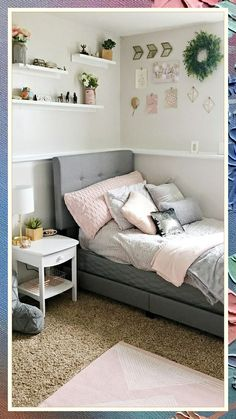 Bedroom Decor For Small Rooms, Bedroom Decor For Teen Girls, Cute Bedroom Ideas, Pretty Bedroom, Room Ideas Bedroom, Bed Room, Cozy Bedroom, Rooms For Teenage Girl, Decorating Small Bedrooms