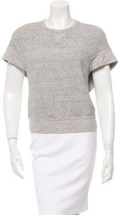 Alexander Wang Draped Short Sleeve Sweatshirt Grey Sweatshirt, Hoodies, Sweatshirts, Alexander Wang, Stylish, Sleeve, Sweaters, Tops, Women