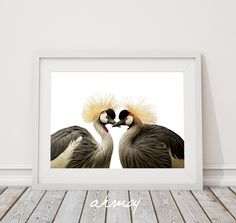 Golden Crowned Crane, Printable Art Instant Download Large Art Print, Modern Minimalist, African Grey / Gray Crowned Crane, wild birds photo by ahmoy on Etsy
