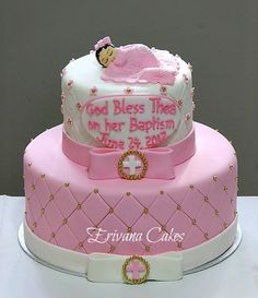 Cake Designs For Christening Baby Girl : 1000+ images about Valentina s Baptism on Pinterest Baby ...