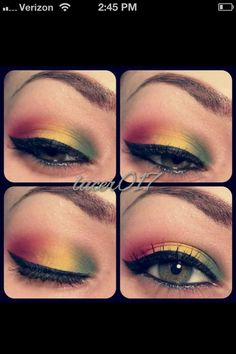 bob marley makeup eyeshadow cute creative