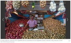 """Indian retail inflation lowest in at least five years """"India's inflation cooled to its lowest in at least five years in January as food prices fell following the government's cash clampdown, but emerging price pressures mean the Reserve Bank of India (RBI) will probably keep interest rates on hold. Get Narendra Modi's & BJP's latest news and updates with - http://nm4.in/dnldapp http://www.narendramodi.in/downloadapp. Download Now."""""""