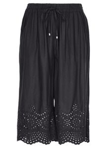 Embroidered Crop Harem Pant Elegant, Stylish, Casual, Skirts, Pants, Clothes, Shopping, Beauty, Tops