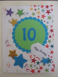 Birthday Card for 10 year old
