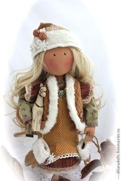 Человечки ручной работы. Ярмарка Мастеров - ручная работа текстильная кукла ANDREA. Handmade.