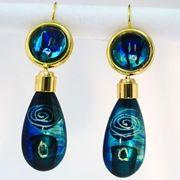 Blue/Turquoise Drop Earrings