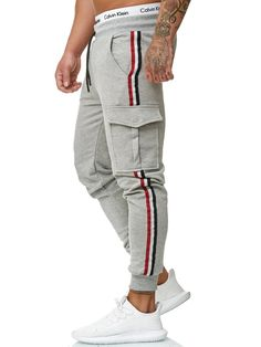 Jogger Pants Outfit, Mens Jogger Pants, Jogger Sweatpants, Track Pants Mens, Track Suit Men, Fitness Gym, Sport Fitness, Fashion Pants, Sporty Fashion