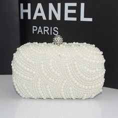 Find More   Information about Fashion 2014 New Small Full Beaded Evening Bag Pearls Women Box Clutch Purse Handbags Wedding Party Black White Pink Sac a Main,High Quality  ,China   Suppliers, Cheap   from momofashion on Aliexpress.com