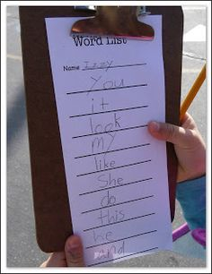 Mrs. Byrd's Learning Tree: Word Hunt Fun!  Outdoor learning is FUN!