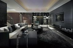 Black and Silver Living Room - Home Decor Ideas