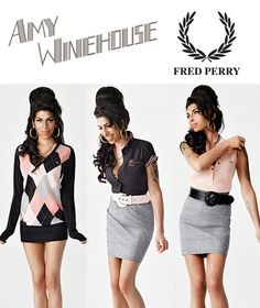 Amy Winehouse for Fred Perry  I want this Argyle dress so bad! I can't find it anywhere  If anyone on Pinterest knows where I can or wants to sell theirs let me know!