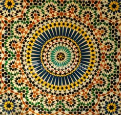 Use of Moroccan tiles in kitchen and downstairs bathroom Moroccan Art, Moroccan Design, Moroccan Tiles, Tile Art, Mosaic Art, Mosaic Tiles, Islamic Tiles, Islamic Art, Art Marocain