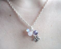 £8.50 Amethyst Rose Quartz Moonstone and Butterfly Cluster by Onuava