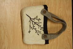Needle felted purse by Tanya Hendrix on sale at Beech Street on Main