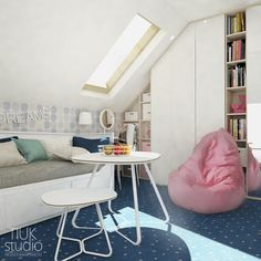 Attic Storage, Clothing Storage, Attic Spaces, Joinery, Baby Room, Chair, Bedroom, Furniture, Home Decor