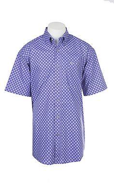 a3cba0db Wrangler 20X Competition Advanced Comfort Men's Orange Geo Print Long  Sleeve Western Shirt