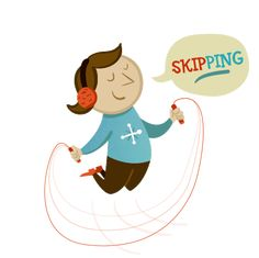 "Skip and say the separate sounds – ""skip-ping-skip-ping"""