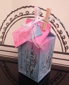 Made a little box with paper and stamps!