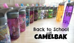 CamelBak Eddy bottles are perfect for back to school.