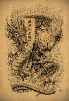 Samurai Dragon by Loren86 on @DeviantArt