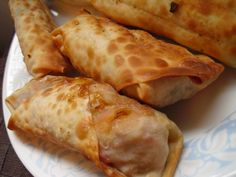 Baked Eggrolls with a chicken filling